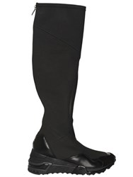 Y 3 30Mm Wedge Synthetic And Leather Boots