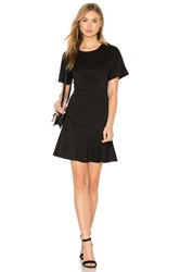 Blq Basiq Ponte Tee Flare Dress Black
