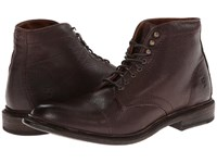 Frye Jack Lace Up Dark Brown Buffalo Leather Men's Lace Up Boots