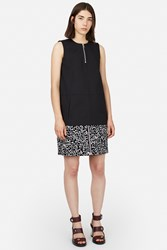 Opening Ceremony Leopard Suede Front Zip Mini Skirt Black Multi