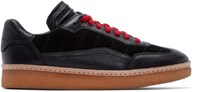 Alexander Wang Black Leather And Suede Eden Sneakers