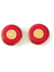 Hermes Vintage Clip On Earrings Red