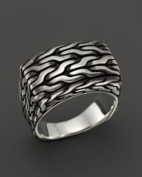 John Hardy Men's Classic Chain Extra Large Sterling Silver Signet Ring