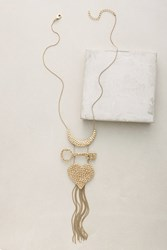 Anthropologie Oh So Charmed Necklace Gold