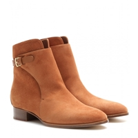 Loro Piana Wallis Suede Ankle Boots Tobacco