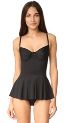 Norma Kamali Underwire Swim Dress Black