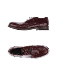 O.X.S. Lace Up Shoes Maroon