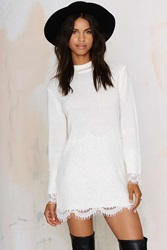 Nasty Gal Dear Prudence Lace Sweater Dress