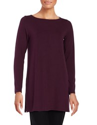 Eileen Fisher Petite Solid Seasonless Tunic Raisenette