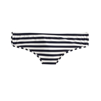 J.Crew Striped Bikini Boy Short Ivory Navy