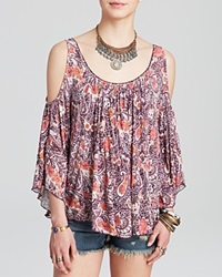 Free People Tee Printed Hummingbird Chloe Tea Combo