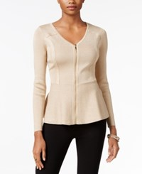 Thalia Sodi Peplum Sweater Only At Macy's Sweater Gold