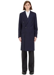 Lanvin D8 Double Breasted Coat Navy