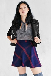 Bdg Plaid Bias Cut Circle Skirt Blue Multi