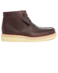 Clarks Brown Leather Beckery Hiking Shoes