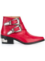 Toga 'Polido' Ankle Boots Red