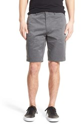 Rvca Men's Flat Front Twill Shorts Charcoal Heather