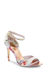 Women's Ted Baker London 'Caleno' Floral Print Ankle Strap Sandal Hanging Gardens Fabric