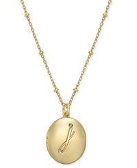 Kate Spade New York Gold Tone Initial 'A' Oval Locket Necklace J