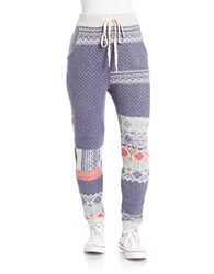 Free People Patterned Knit Jogger Pants