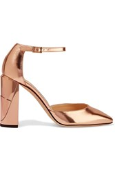 Jimmy Choo Mabel Mirrored Leather Pumps Pink