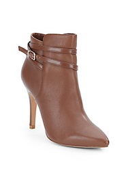 Saks Fifth Avenue Black Candise High Heel Ankle Boots Cognac