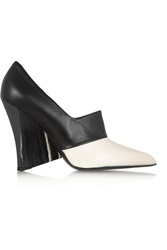 Stella Mccartney Two Tone Faux Leather Pumps Black