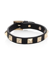 Valentino Rockstud Small Leather Bracelet Marine Red Army Chestnut Pink Cognac Black Brown