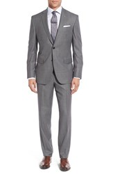 Ted Baker Men's London 'Jay' Trim Fit Solid Wool Suit Grey