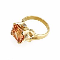 Metal Couture Lioness Of Versailles Ring Small Gold