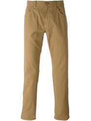 Salvatore Ferragamo Five Pocket Trousers Nude And Neutrals