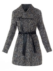 Lavand Textured Winter Coat Grey