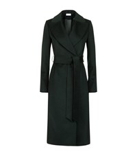 Reiss Forley Brushed Wool Wrap Coat Female Emerald