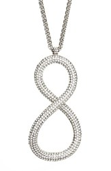 Women's Lafayette 148 New York Infinity Pave Pendant Necklace