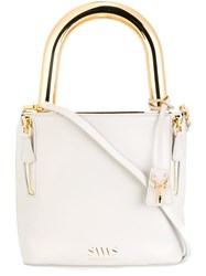 Savas 'Lucchetto' Padlock Bag White