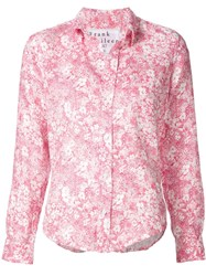 Frank And Eileen Floral Print Shirt Pink And Purple