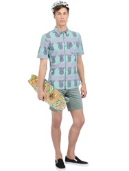 Vans Pineapple Printed Cotton Chambray Shirt
