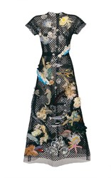 Dolce And Gabbana Sea Motif Netted Lace Dress Black