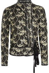 Isabel Marant Orval Printed Quilted Silk Shantung Jacket Green