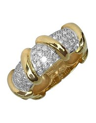 Torrini Twister 18K Yellow Gold Diamond Ring