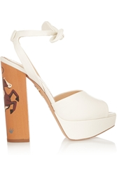 Charlotte Olympia Round Up Leather Sandals
