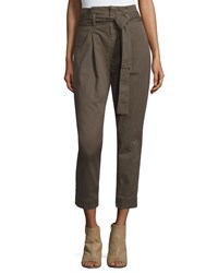 Frame Denim Le Skinny Paper Bag Trousers Commander