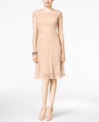 Alfani Lace A Line Dress Only At Macy's Silver Peony