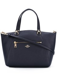Coach Medium Double Straps Tote Blue