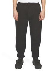 Kenzo Pinstripe Cotton Sweatpants Black