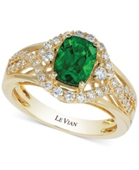 Le Vian Chrome Diopside 1 1 3 Ct. T.W. And Diamond 3 8 Ct. T.W. Ring In 14K Gold