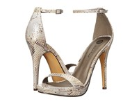 Michael Antonio Lovina Metallic Snake Natural Women's Dress Sandals Beige