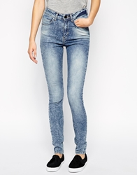 Just Female Stroke Skinny Jeans In Acid Wash
