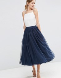 Asos Wedding Tulle Prom Skirt With Multi Layers Navy