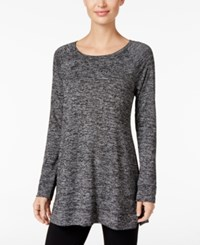 Styleandco. Style Co. Melange Knit Tunic Only At Macy's Deep Black